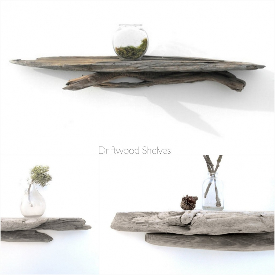 Take two tuesday driftwood shelves beach coast style